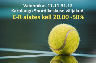 Aastalõpu hinnasula Karulaugu Spordikeskuse tenniseväljakutel