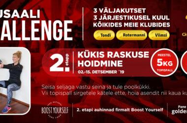 Täna startis Jõusaali Challenge'i II etapp