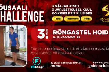 Tänasest stardib Jõusaali Challenge'i III etapp
