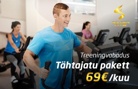 Tähtajatu treeningpakett kuutasuga 69€